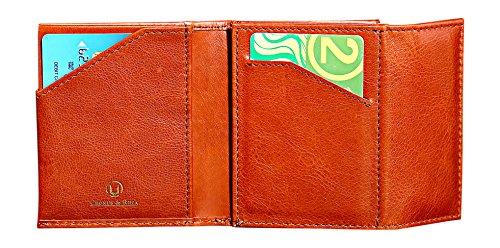 Cronus & Rhea® | Luxus Geldbörse mit Münzfach aus exklusivem Leder (Demeter) | Geldbeutel - Brieftasche - Kartenhalter - Geldklammer | Echtleder | Mit eleganter Geschenkbox | Herren (Cognac) (Brieftasche Tasche Slim Fossil)