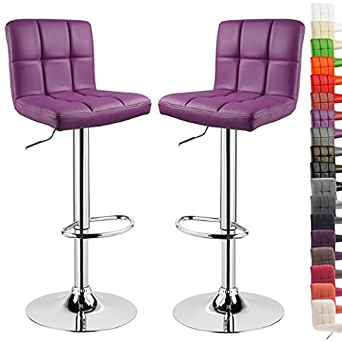 WOLTU 9170-a Set of 2 Swivel Bar Stools with Backs