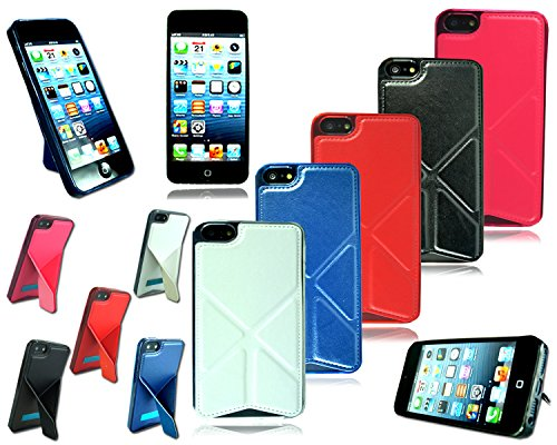Neueste Design Slim Leder Ständer Schutzhülle für Apple I Phone 5C schwarz
