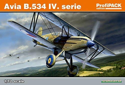 534 Serie (Unbekannt Eduard Plastic Kits 70102 - Modellbausatz Avia B.534 IV Serie Profipack, grau)