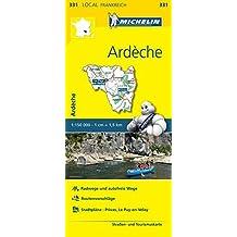 Michelin Ardeche-Haute Loire: Straßen- und Tourismuskarte 1:150.000 (MICHELIN Localkarten)