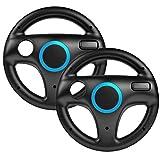booEy 2x Lenkrad Wheel f�r Nintendo WII und Wii U Mario Kart schwarz Bild