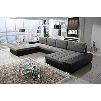 Moderne sofa garnitur belessa mit bettfunktion for Wohnlandschaft verona