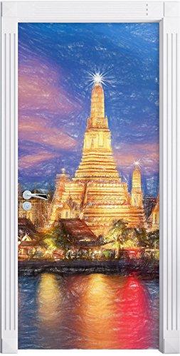 wat-arun-temple-night-view-di-bangkok-thailandia-effetto-matita-arte-come-murale-formato-200x90cm-te