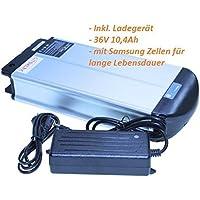 Akku 36V 10 AH Lithium Ionen 2 Pole XH370-10J mit Ladegerät für E-Bike, Pedelec, Elektrofahrrad z.B. Mifa,REX,Prophete Aldi Ersatzakku NEU