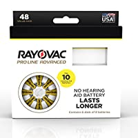 Rayovac Proline Advanced Mercury Free Hearing Aid Batteries, size 10A, 48 pack
