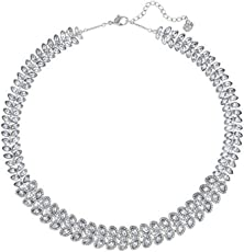 Swarovski Damen-Collier Baron All-Around Halskette Versilbert Kristall transparent 38.0 cm - 5117678