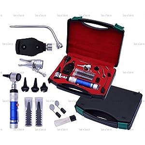 blau tierärztlich Otoskop Ophthalmoskop diagnostisch SET HNO Chriurgische Instrumente