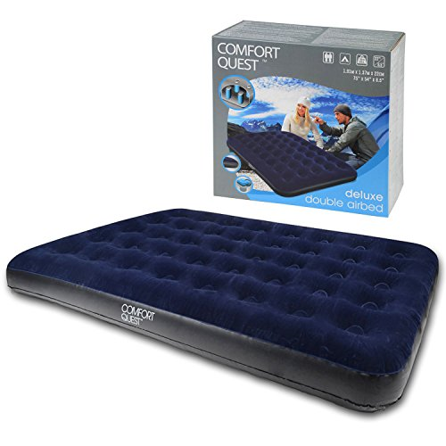 double airbed inflatable blow up camping mattress guest air bed comfort quest inflatable. Black Bedroom Furniture Sets. Home Design Ideas