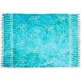 ManuMar Damen Sarong | Pareo Strandtuch | Leichtes Wickeltuch mit Fransen-Quasten 155x115cm oder 225x115cm, Motive und Farben