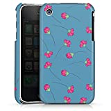 DeinDesign Coque Compatible avec Apple iPhone 3Gs Étui Housse Fleurs Blue Bleu