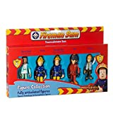 5 X FIREMAN SAM ARTICULATED FIGURES - FIREMAN SAM , PENNY , TOM, NORMAN, NURSE FLOOD