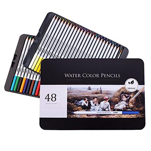 iVENUS Professional Farbstifte, Buntstifte Farbstifte Set of 48 für Erwachsenen Färbung Bücher oder Kinder Schulbedarf - Perfekt zum Buntstift Set