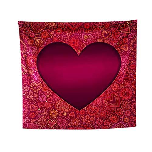 Valentine Coeur Motif Tapisserie Serviette De Plage Couvrir Nappe Décor À La Maison,130x150cm par Anliyou