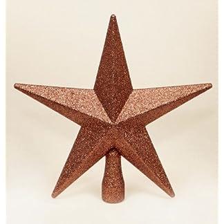 Stern-Fr-Weihnachtsbaum-Spitze-Glitzer-Lack-Braun-20cm