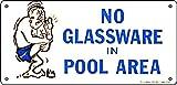 41332–Poolmaster–keine Glaswaren Schild für privaten Pools