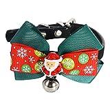 PEDOMUS Haustier Weihnachtsmann Fliege mit schönen Kleinen Glocke,Fliege Kleidung für Katze und Kleiner Hund. (S)