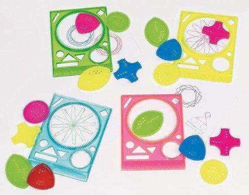 Goki Geometrische Schablonen - 4 Lineale + 16 Schablonen