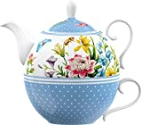 Creative Tops Katie Alice English Garden Porcelain Tea for One Teapot and Cup - Multi-Colour