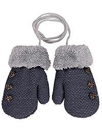 Lalang Gants en tricot pour enfants gants chauds d hiver 40bdca2176c