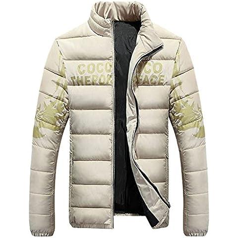 YOUR GALLERY Hombre chaquetas de plumas ligeras para invierno corto acolchada abrigos de plumas
