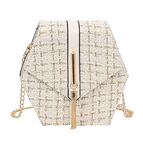 Produp 2019 Hot Fashion Casual Frauen Einfache Frauen Umhängetasche Umhängetasche Kette Wolle Quaste Kleine Quadratische Tasche Vielseitig Retro Tragbare -
