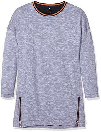 NAME IT Mädchen Kleid Nitkoddy LS SW Dress Nmt Ger, Grau (Grey Melange), 158