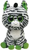 TY 7136922 - Zig-Zag Buddy Zebra, Large Beanie Boos, 21.5 cm