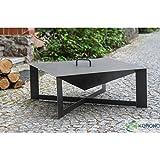 immagine prodotto korono–Braciere quadrato in acciaio nero + coperchio