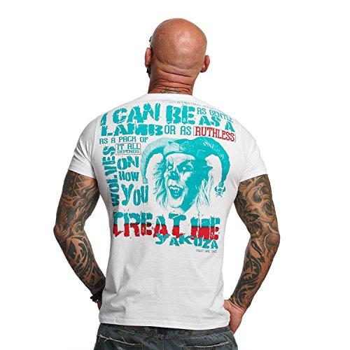 Yakuza Original Herren Treat Me T-Shirt Weiß