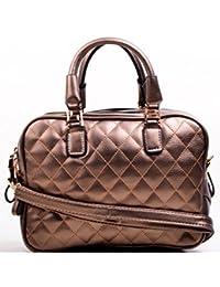 Hopping Street Stylish Elegance Fashion Brown Color Faux Leather Handbag for Women