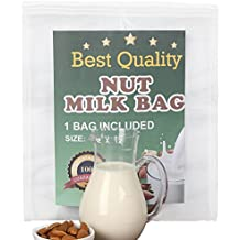 Bolsa para Hacer Leches Vegetales, Nut Milk Bag Smoothies, Zumos Vegetales, Mermeladas y