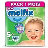 Molfix Twin Pack de 120 Couches 11-18 kg 1 Mois Taille 5