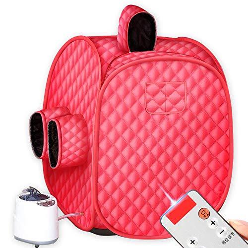 YXLONG Infrarot Sauna Tragbare Heim-Premium-Dampfsauna Personal Spa Trockene Sauna Infrarot Dampfbox - Red,Reddouble -