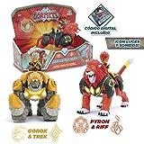 Gormiti GRM05000, Hyperbeast Animal con Sonidos y Figura de Acción Articulada, Colores Surtidos