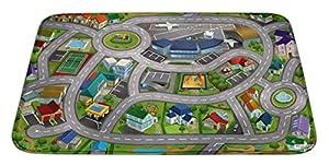 House Of Kids 88230-E3 - Alfombrilla de Juego Ultra Suave (70 x 95 cm), diseño de Ciudad de la Ciudad