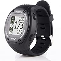 POSMA GT1Plus Golf Trainer GPS Golf Watch Range Finder, Preloaded Europe, America, Asia Golf Courses no subscription, Courses including US, Canada, etc.