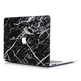 L2W Laptop MacBook Air Case Tasche Apple Muster Plastik Zubehör Hülle Case Für MacBook Air 13 Zoll (Modell:A1466/A1369) Inklusive Transparent Tastaturabdeckung,Marmor Schwarz