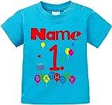 EZYshirt Geburtstag Wunschname Wunschnummer Baby T-Shirt Bio Baumwolle