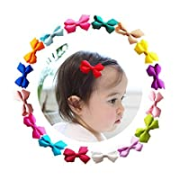 "Ruyaa Tiny 2"" Hair Bows Fully Lined Hair Clips for Baby Fine Hair Infants Toddlers - -"