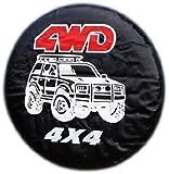 Housse de roue de secours de 4x4 4WD pour toutes les tailles