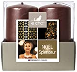 Charlando 1179431 NAVIDAD Bandeja GLORIA 2 velas Medio Modelo - cobre de color rosa