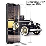 DOSNTO Honor 8X Pellicola Protettiva, 2Pezzi, Pellicola Vetro Temperato,HD Alta Trasparenza Senza Bolla - Pellicola Vetro per Honor 8X