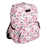 Small Owl Print Heart Print Backpack DayPack Girls Rucksack