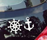 Anker Ruder???Sea, Meer, Wasser, Auto Aufkleber Vinyl Fenster Aufkleber Aufkleber Laptop Aufkleber Love Herz Decor Home Live Kids Funny Art Wand Aufkleber Aufkleber