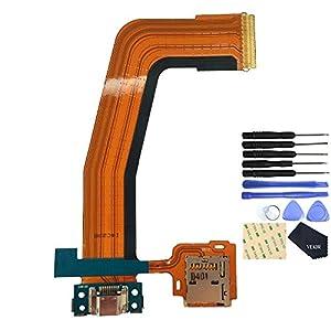 VEKIR Ladebuchse Kabel mit Speicherkartenfach für Samsung Galaxy Tab S 10.5