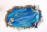 Kibi Wandaufkleber Babyzimmer Frozen 3d Wandsticker Cartoon Frozen Disney für Kinderzimmer Hintergründe Ingre Living Room Removable Prinzessin Elsa Wandtattoo Kinderzimmer Frozen Olaf 50 (W) x 70 (H) CM