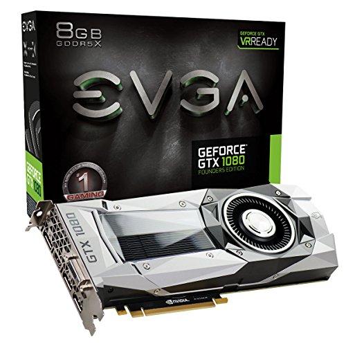 EVGA GeForce GTX 1080 08G-P4-6180-KR 8GB Founders Edition PCI-Express-Grafikkarte mehrfarbig