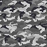 (13,90 € / M) Jersey Baumwolljersey Meterware Camouflage - Grau