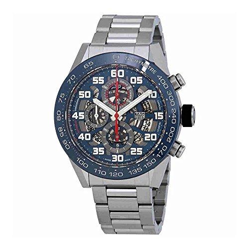 TAG Heuer Carrera Squelette automatique Cadran bleu montre de chronographe pour homme Car2a1K. Ba0703